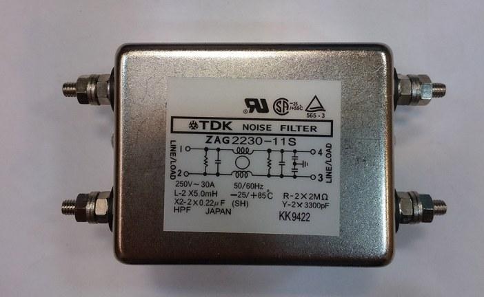 نویز فیلتر تک فاز مدل ZAG2230-11S برند TDK ژاپن