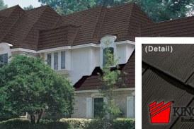 تایل های سنگدانه ای، پیشانی آپارتمان، پوشش سقف شیبدار، سقف های شیروانی