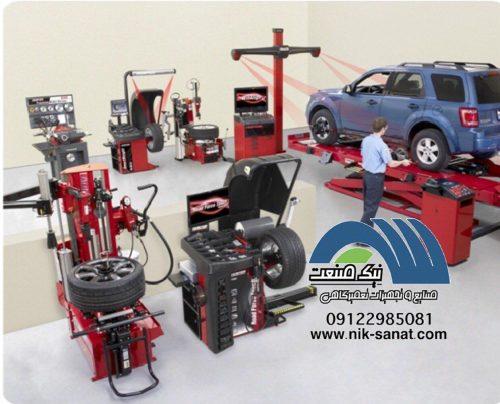 فروش ویژه شرایطی انواع تجهیزات تعمیرگاهی خودروهای سبک و سنگی