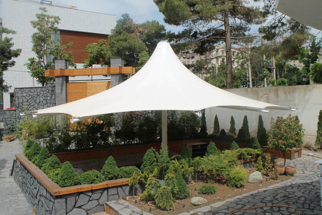 طراحی و اجرای غرفه نمایشگاهی، سازه کششی، سازه پارچه ای و باد