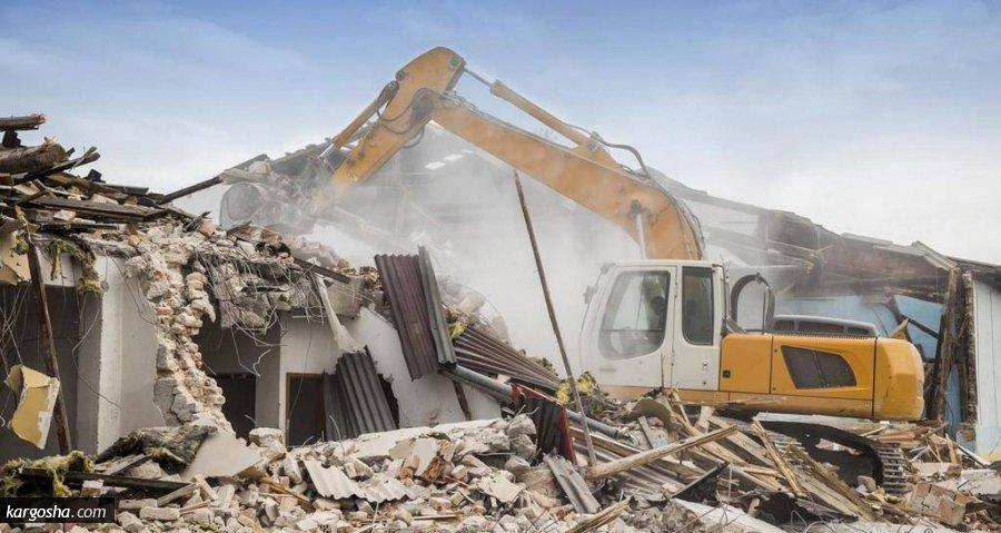 تخریب ساختمان و خاکبردارئ
