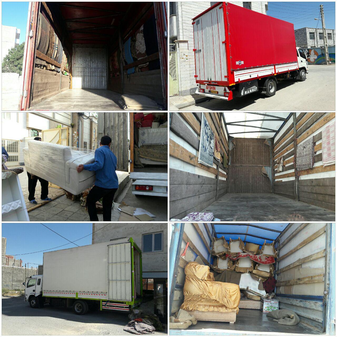 حمل اثاثیه منزل و بار در سراسر مشهد و شهرستانها