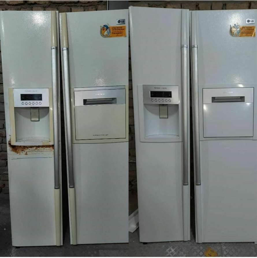 تعمیر فرورفتگی درب یخچال قری ساید تعمیر پوسیدگی