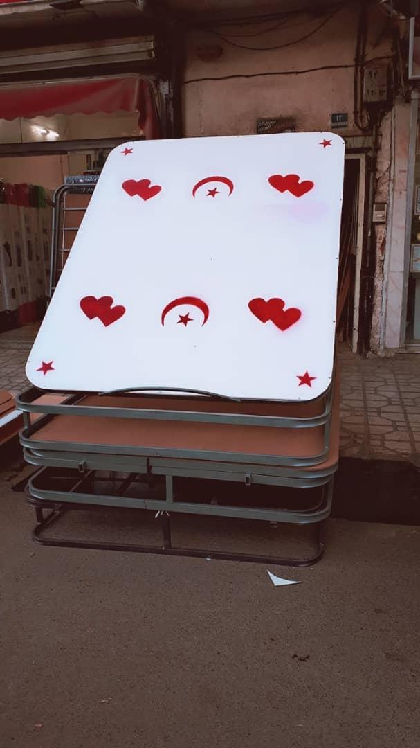 کفی تخت چوبی و فلزی