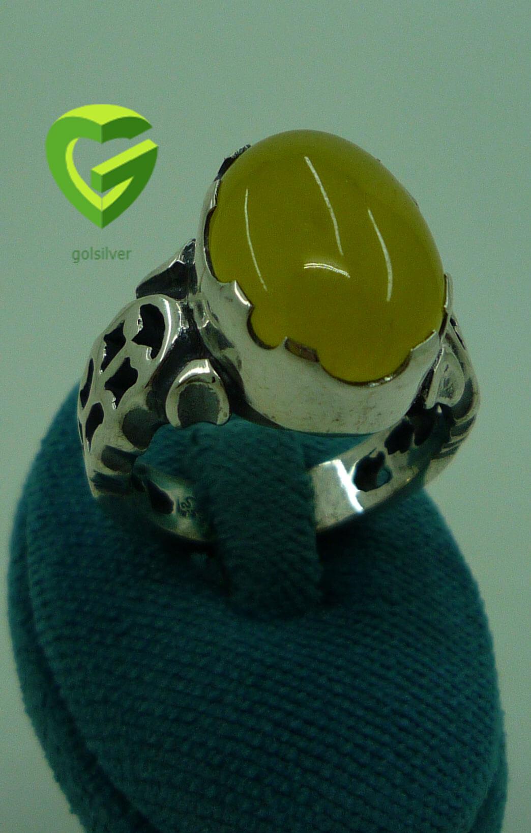 انگشتر نقره عقیق زرد8کد567