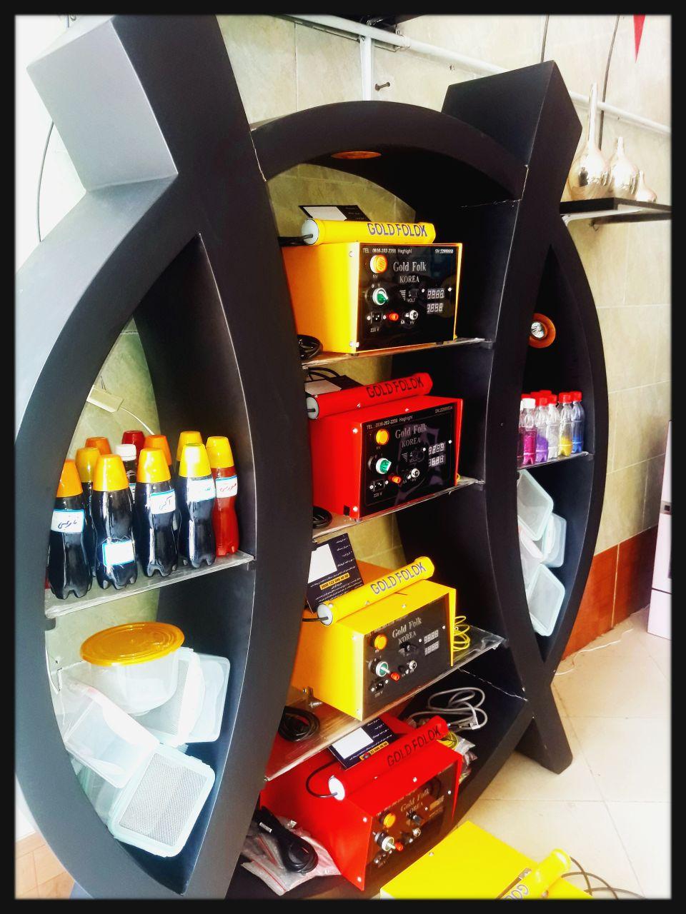 دستگاه مخمل پاش/آبکاری حرارتی وپاششی فانتاکروم/فرمول لاک گلدفلوک بهمراه متریال 09301313308