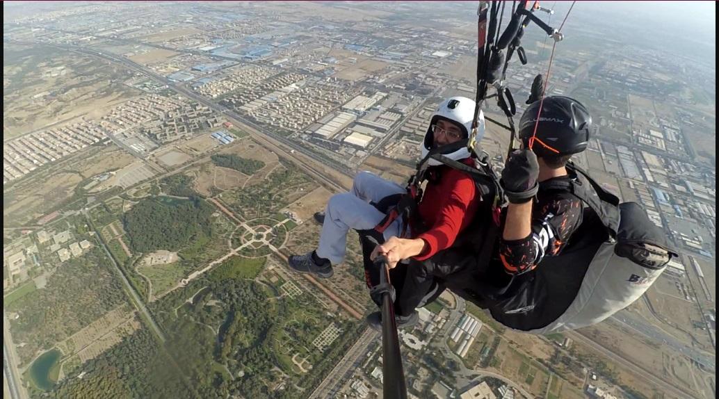 پرواز دونفره با پاراگلایدر (تندم) بدون نیاز به آموزش