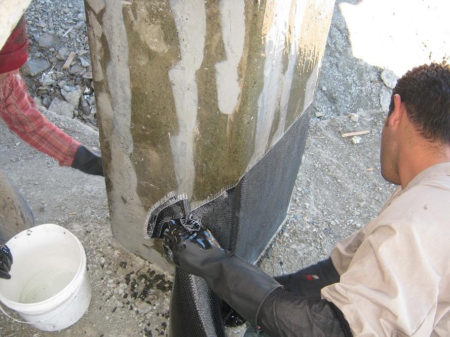 مقاوم سازی بتن Frp ، کاشت آرماتور در بتن
