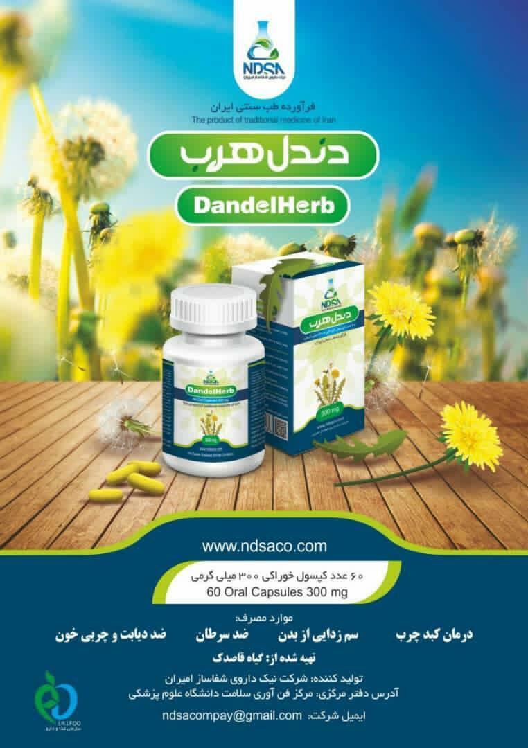 کپسول گیاهی قاصدک درمان کننده کبد چرب و دیابت