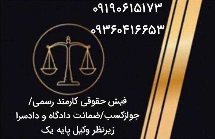 فیش حقوقی/جوازکسب/سند/ضمانت دادگاه و دادسرا