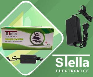 فروش آداپتور ۱۲ ولت ۲ آمپر استلا Stella 12v 2a Adapter با یک سال گارانتی