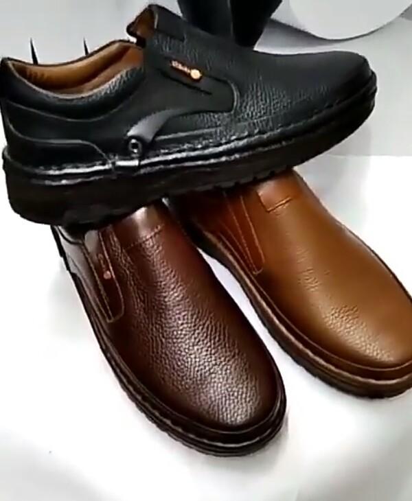 فروش بهاری کفش تمام چرم مردانه وانلیا با تخفیف5%