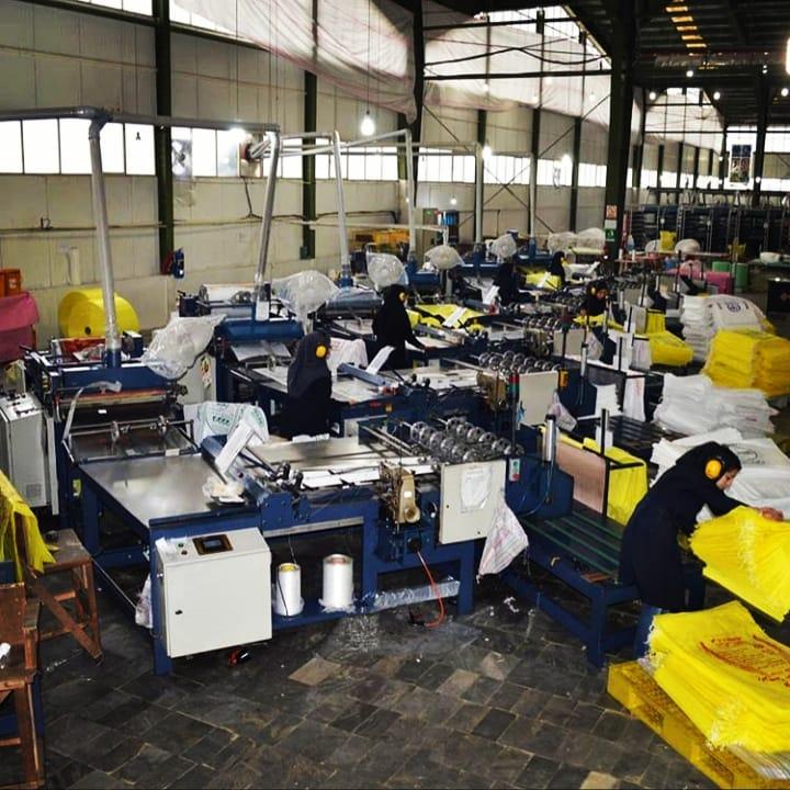 کیسه صنعت کاران البرز انواع کیسه های پلی پروپیلن گونی پلاستیکی